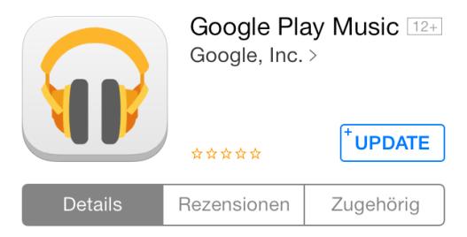Google Play Music iOS Update
