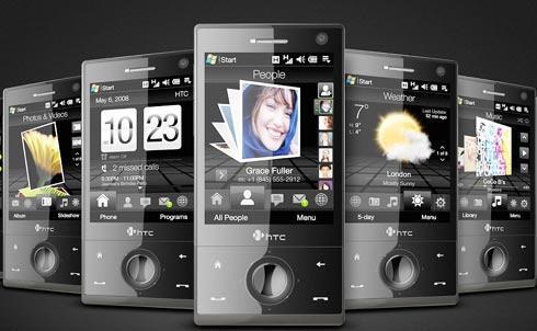 Mit TouchFlo3D führt HTC die langfristig gültigen Designvorgaben für eigene Geräte, die später auch unter Android gelten. P.S.: Vergleiche das Foto mit dem oberen iPhone-Foto.