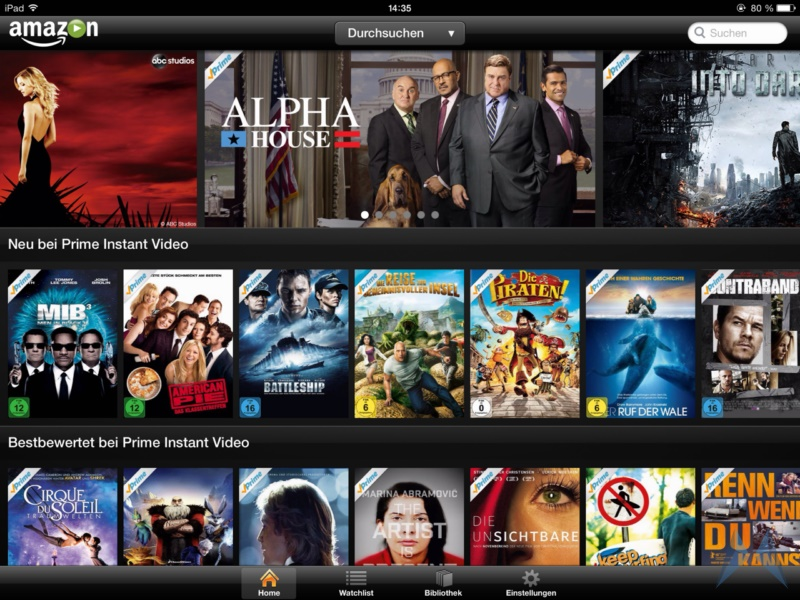 Amazon Prime Instant Video iPad App (5)