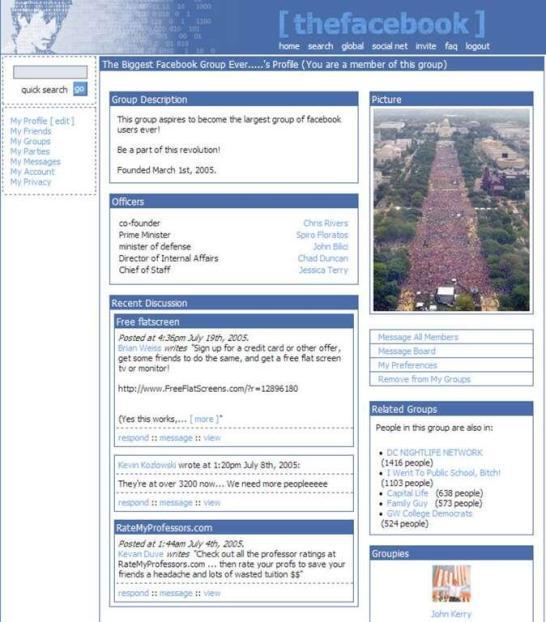 Facebook Profil 2004