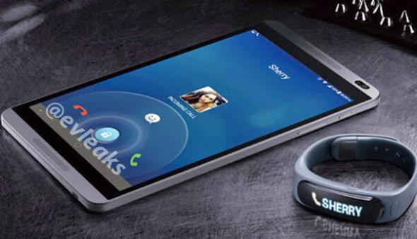 Huawei Smartphone und Armband MWC2014