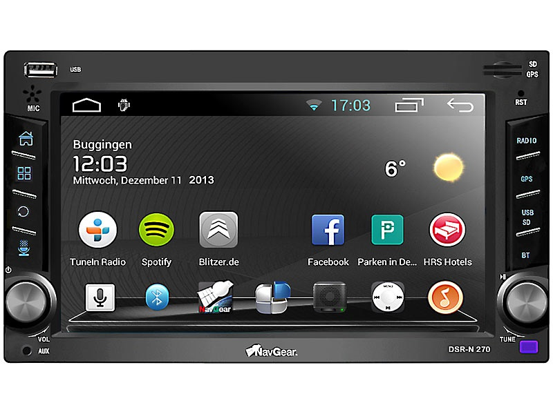 navgear dsr n 270 2 din android autoradio mit gps wifi und bluetooth. Black Bedroom Furniture Sets. Home Design Ideas