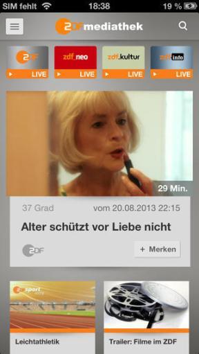 ZDFmediathek iOS 02