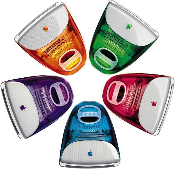 Um zu zeigen, inwieweit der erste iMac handlich war, hat man sogar einen Griff zur Transportierung eingebaut. Nicht unbedingt die beste Entscheidung