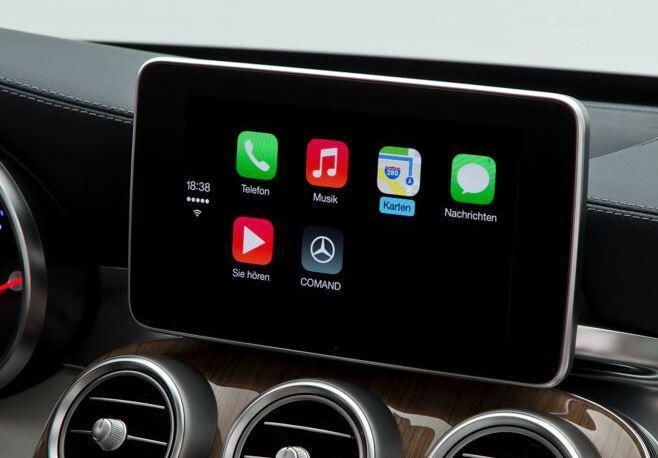 apple carplay auch mercedes benz zeigt ausf hrliches video. Black Bedroom Furniture Sets. Home Design Ideas
