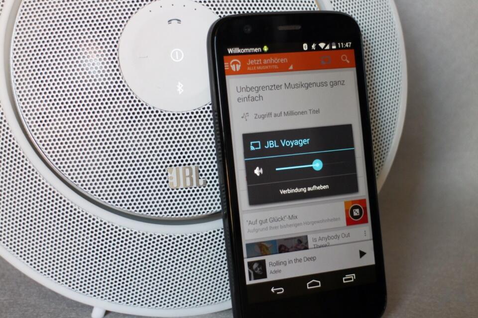 JBL Voyager Bluetooth-Lautsprechersystem Test (2)