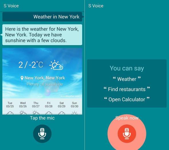 S Voice Galaxy S5