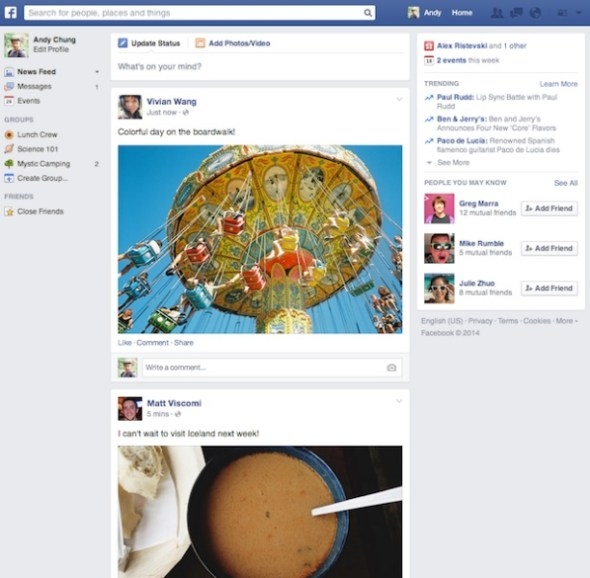 facebook newsfed update