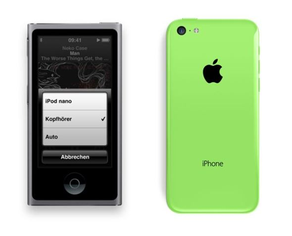 ipod nano iphone 5c