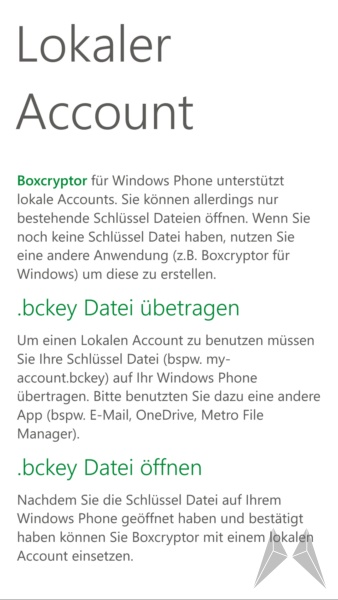 Boxcryptor Windows Phone 8 (6)