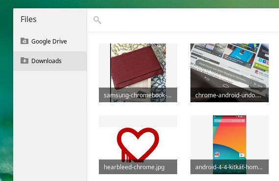 Chrome OS Galerie