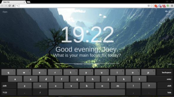 Chrome OS virtuelle Tastatur