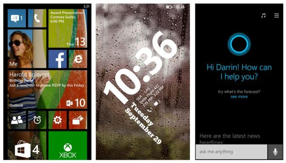 Windows Phone 8.1 Blue Screenshots Header