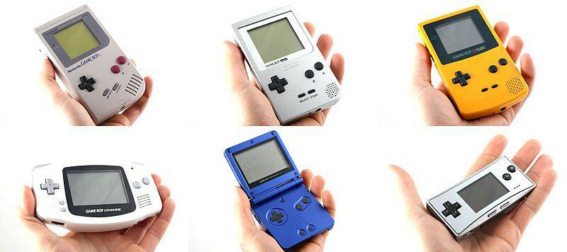 Verschiedene Game Boy Generationen | Bild Wikipedia CC BY 3.0