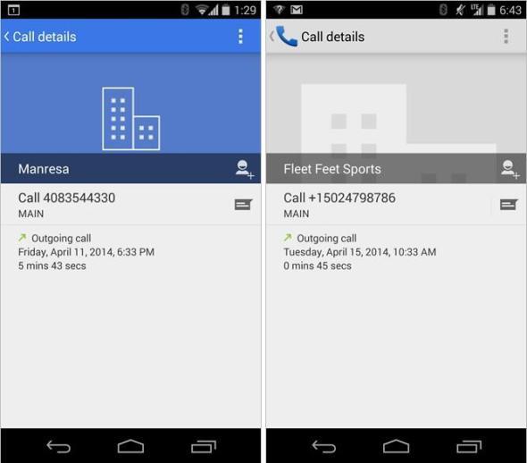 Android Telefon-App - Neu vs Alt
