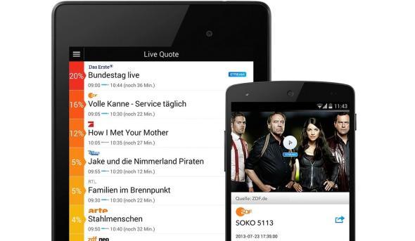 live tv app header