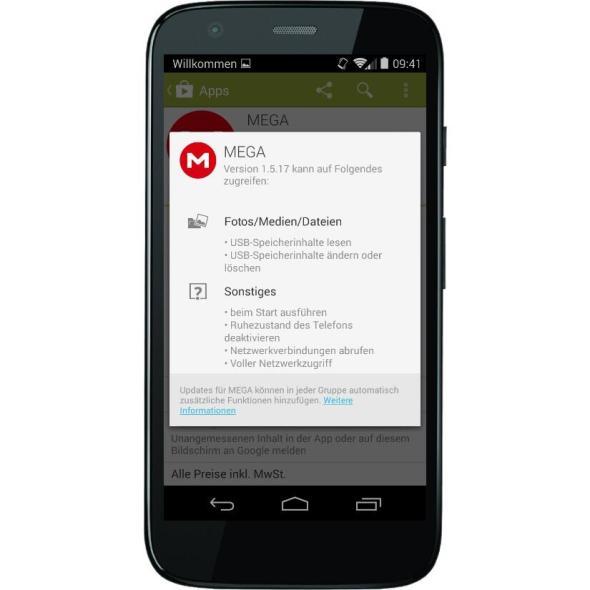 Google Play Berechtigungen Header