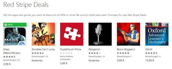 Red Stripe Deals für Windows Phone Aktionsapps für KW 202014