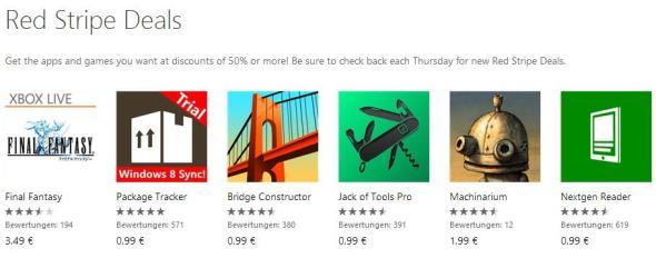 Red Stripe Deals für Windows Phone Aktionsapps für KW 21-2014