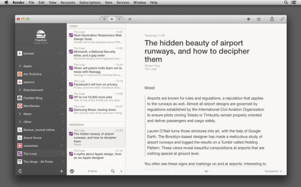 Reeder 2 Screenshot