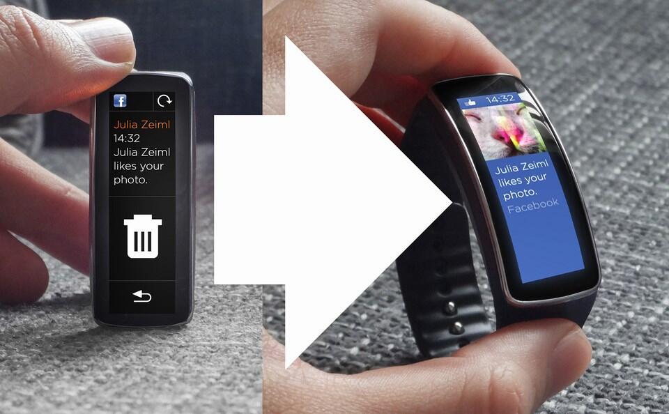 Samsung Gear Fit Konzept Vorher Nachher