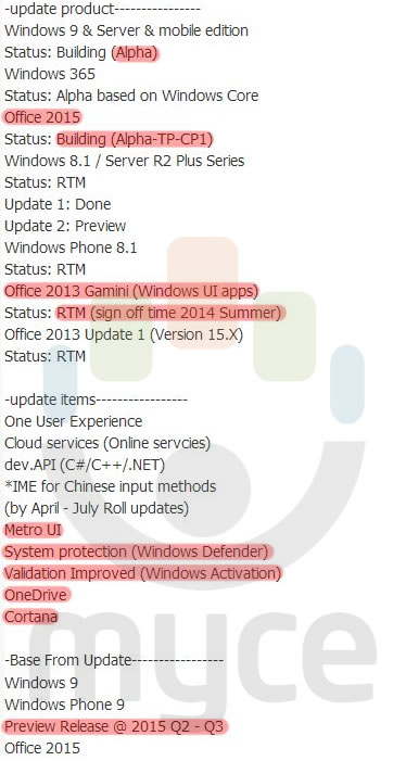 Windows Phone 9 Preview Leak