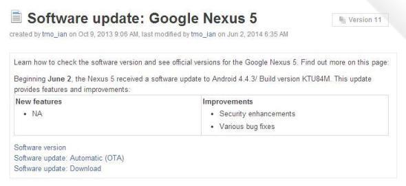 Nexus 5 Update TMO