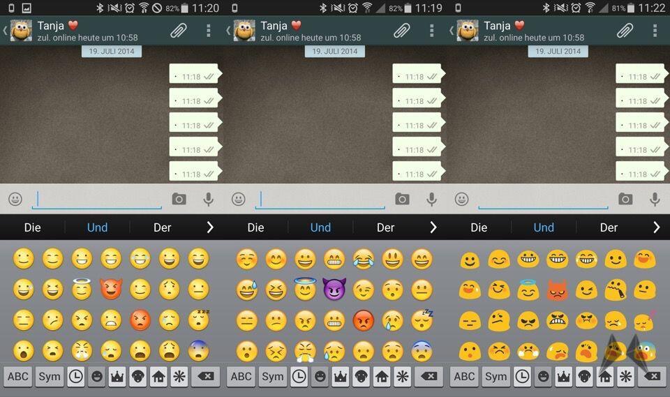 Emoji Switcher für Android: Smileys wechseln leicht gemacht