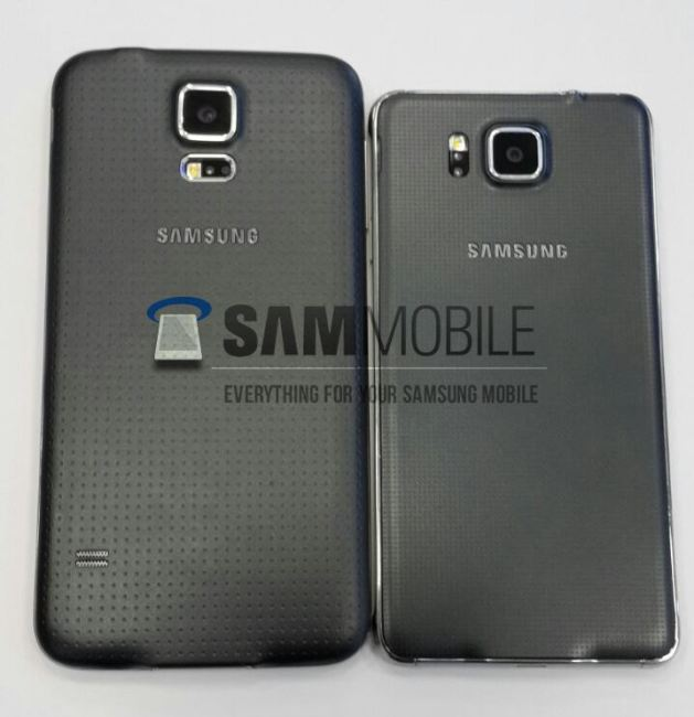 Galaxy Alpha vs Galaxy S5 Back