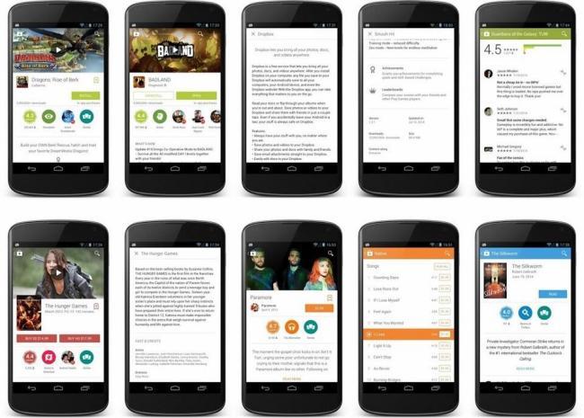 Google Play Store 4.9 Design