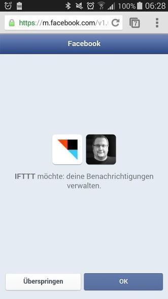 IFTTT Android Wear Berechtigung