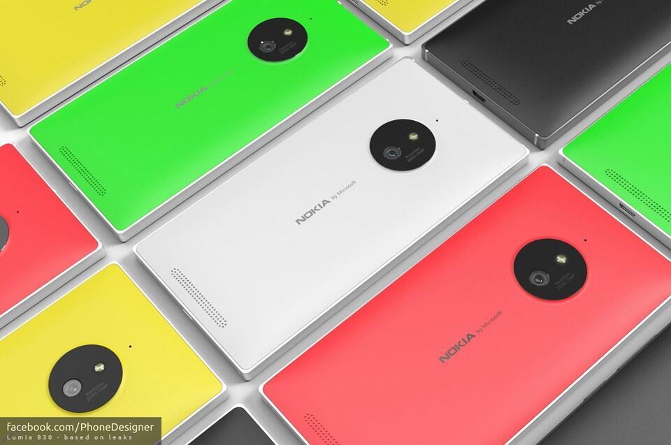 Nokia Lumia 830 Konzept Mitte