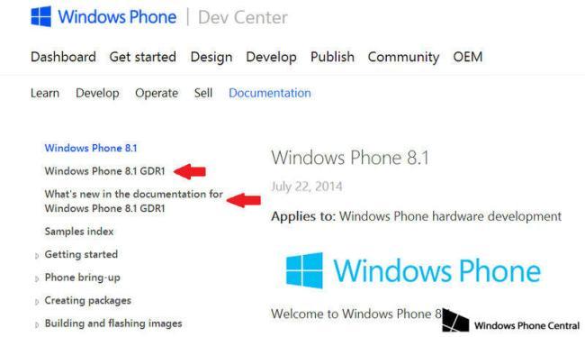 Windows Phone 8.1 GDR1-Update Hinweis