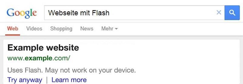 google mobile suche warnt vor nicht unterst tzen webtechnologien. Black Bedroom Furniture Sets. Home Design Ideas