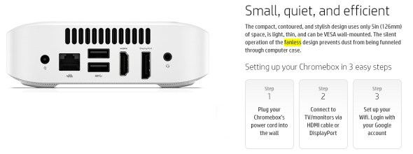 hp chromebox fanless