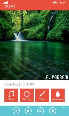 Flipagram Edit Screenshot.