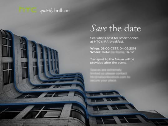 HTC IFA Einladung