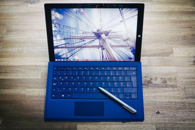 Microsoft Surface 3 Pro - Draufsicht