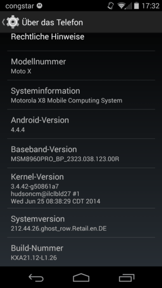 Moto X 4.4.4