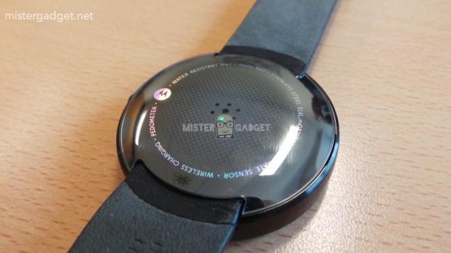 Motorola Moto 360 Rückseite