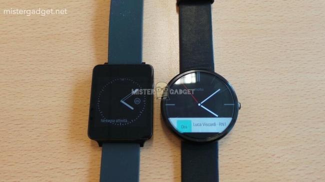 Motorola Moto 360 mit LG G Watch