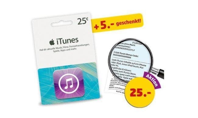 Penny iTunes Karte Rabatt