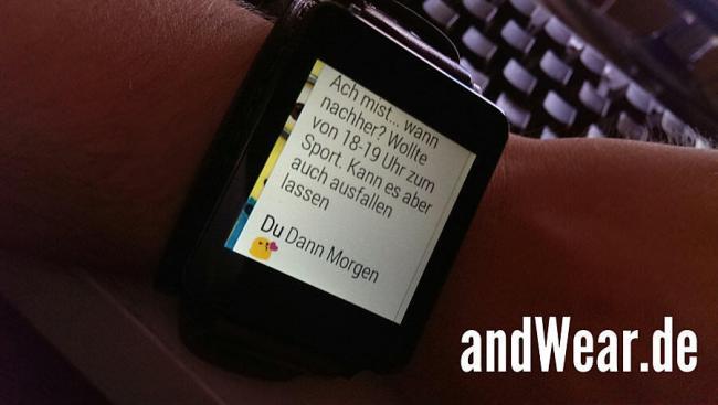 WhatsApp Beta Android Wear Nachrichtenverlauf