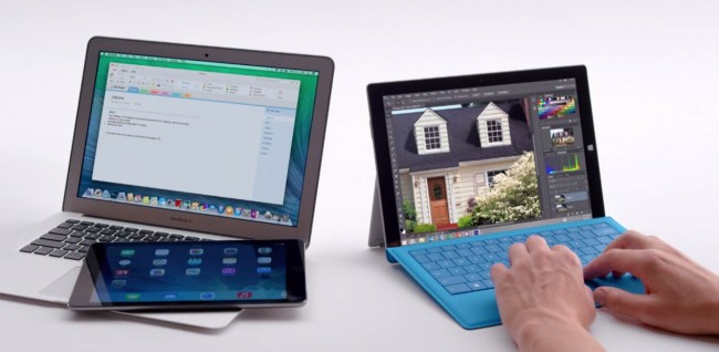 mac book ipad air surface 3 microsoft