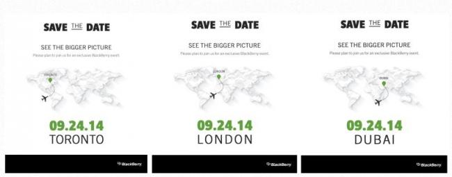 BlackBerry Event Einladung