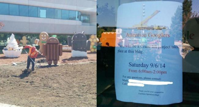 Google Campus Bauarbeiten