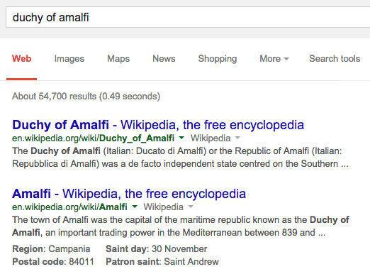 Google-Suche Inline-Informationen