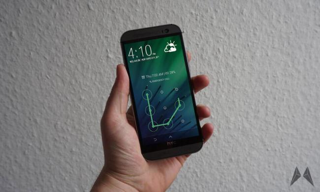 HTC One M8 Sense 6 Sperrfenster Sperrbildschirm Header