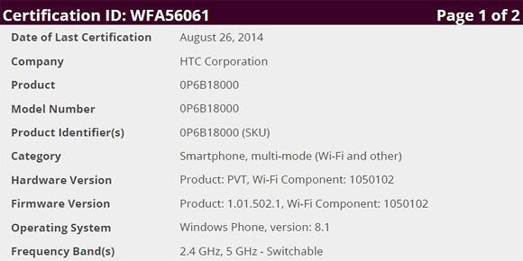 HTC_One_M8_WiFi_Zertifizierung