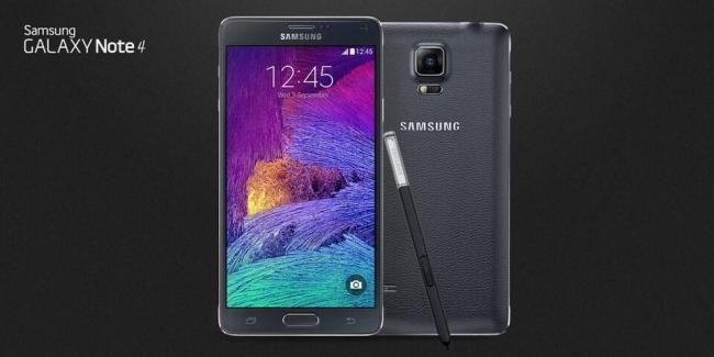 Samsung Galaxy Note 4 Header